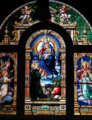St. Dominic Stained Glass Window