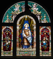 St. Cecilia Stained Glass Window