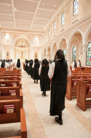 After a simple entrance ceremony, the postulant begins a year of immersion into the life of her new religious family.
