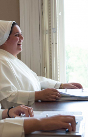 She is guided to see the essential link between study, prayer and preaching.