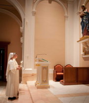 Devotion to Mary is fostered, as well as a strong fidelity to the teachings of the Church.