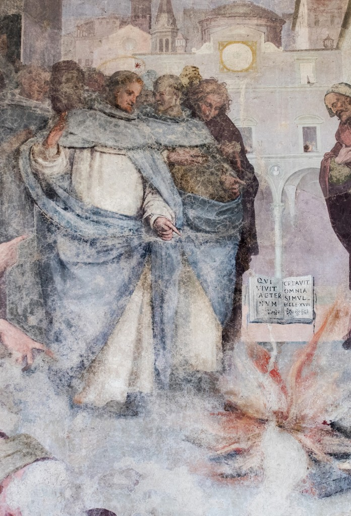St Dominic, miracle of the book in the fire, Santa Maria Novella Cloister